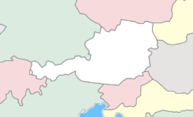 Österreich mit bundesländer und nachbarstaaten von almoehy6580